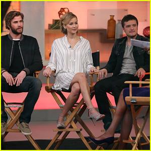 Jennifer Lawrence, Josh Hutcherson, & Liam Hemsworth Debut New 'Mockingjay' Clip - Watch Now!