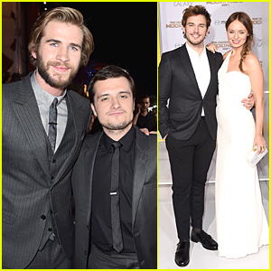 Liam Hemsworth & Josh Hutcherson Are So Dapper at 'Hunger Games: Mockingjay' Los Angeles Premiere!