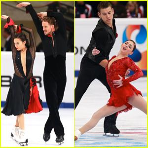 Ice Dancers Madison Chock & Evan Bates Claim Rostelecom Cup Title