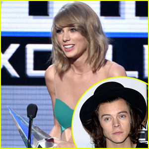 See Harry Styles' Reaction to Taylor Swift's AMA Award Speech!
