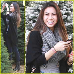 Ashley Argota Snaps Pics Of Potential Christmas Tree Contenders