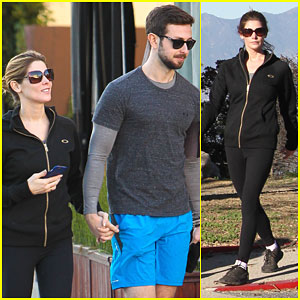 Ashley Greene & Paul Khoury Work Out Together to Burn Off Holiday Calories