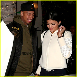 Kylie Jenner Is a Spago Sweetie with Tyga