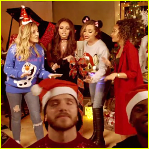 Little Mix Have A Christmas Party In New 'Baby Please Come Home' Cover Video