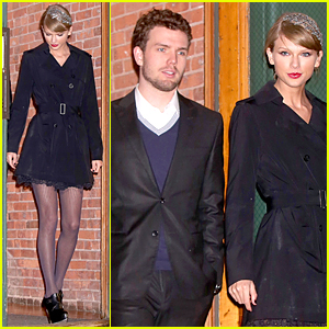Taylor Swift & Brother Austin Get All Dressed Up For Formal Holiday Dinner