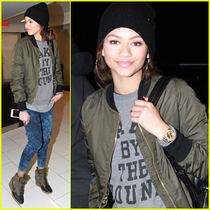 Zendaya Jets Off After Shooting 'K.C. Undercover' Christmas Episode