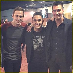 Kendall Schmidt & James Maslow Support Carlos PenaVega at 'Spare Parts' Premiere