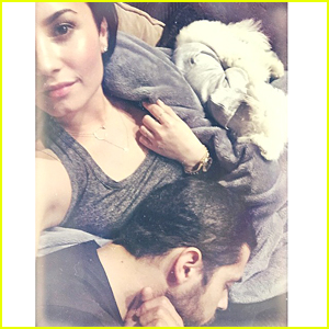 Demi Lovato Shares Adorable Photo With A Sleepy Wilmer Valderrama & Buddy - See It Here!