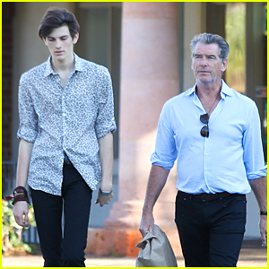 Dylan Brosnan Looks Very Tall Next to Dad Pierce on 18th Birthday