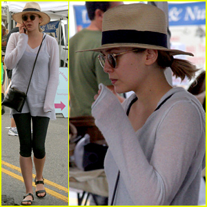 Elizabeth Olsen Spotted in Rare Sighting Out at the Farmer's Market