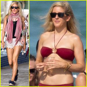 Ellie Goulding Sports Tiny Bikini During Stateside Vacation with Dougie Poynter