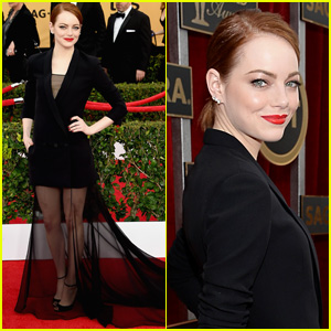 Emma Stone Makes Jaws Drop on SAG Awards 2015 Red Carpet!