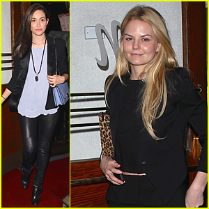 Emmy Rossum & Jennifer Morrison Grab Dinner at Madeo