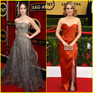 Emmy Rossum & Sophia Bush Look Amazing at the SAG Awards 2015!