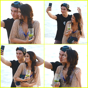 Union J's George Shelley & Caterina Lopez Take The Cutest Beach Selfies Together in Barbados