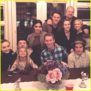 Bridgit Mendler & Shane Harper Join the Duncan's & Sabrina Carpenter For 'Good Luck Charlie' Cast Dinner