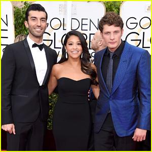Justin Baldoni & Brett Dier Hit Golden Globes 2015 with 'Jane the Virgin' Cast!