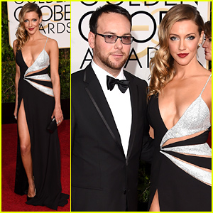 Katie Cassidy Steps Out with Boyfriend Dana Brunetti at the Golden Globes 2015!