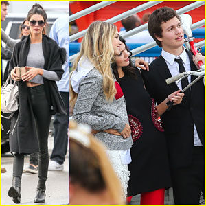 Kendall Jenner & Gigi Hadid Hang Out with Ansel Elgort!