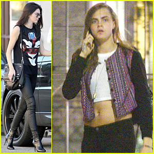Kendall Jenner Comforts Cara Delevingne Following Grandmother's Passing