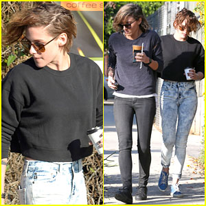 Kristen Stewart Gets Her Morning Coffee with Alicia Cargile