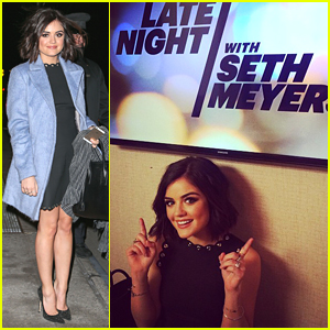 Lucy Hale Takes Over 'Late Night With Seth Meyers' Instagram - See All Her Cute Pics!