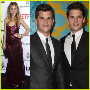 Charlie & Max Carver Take the Golden Globes Parties By Storm!