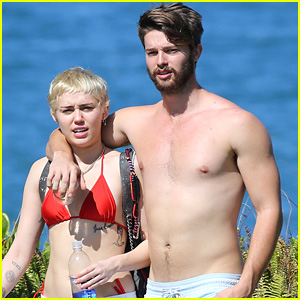 Miley Cyrus Rocks Red Bikini While Vacationing with Shirtless Patrick Schwarzenegger in Hawaii