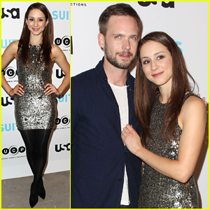 Troian Bellisario Supports Fiance Patrick J. Adams at 'Suits' Exhibition Opening in NYC!