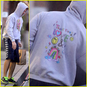 Patrick Schwarzenegger Shows His Love For Miley Cyrus with a Sweatshirt!