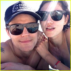 Paul Wesley & Phoebe Tonkin Get Affectionate in Cute Beach Photo!
