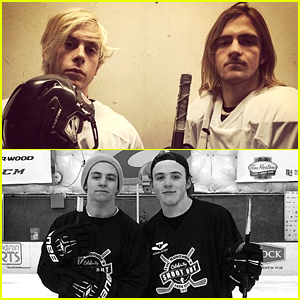 Ross Lynch & David Henrie Play Hockey For Echoes Of Hope at Sundance 2015