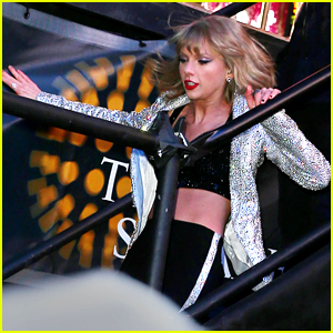 Taylor Swift Slips on Stairs in Times Square (Video)