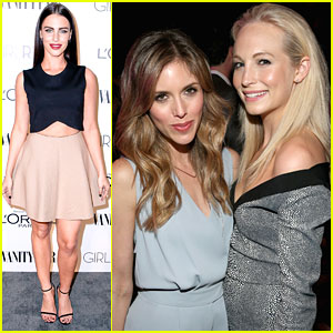 Candice Accola & Kayla Ewell Make It A Girls Night Out At Vanity Fair's DJ Night