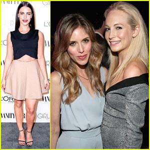 Candice Accola & Kayla Ewell Make It A Girls Night Out At Vanity Fair's DJ Night