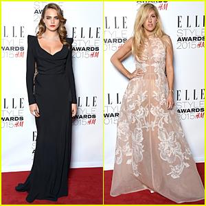 Cara Delevingne & Ellie Goulding Bring Serious Glam to Elle Style Awards 2015