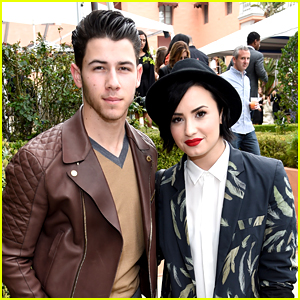 Demi Lovato Brunches with Nick Jonas at Puma's Pre-Grammys Event!