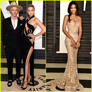 Gigi Hadid & Cody Simpson Couple Up at Second Oscars 2015 Party!