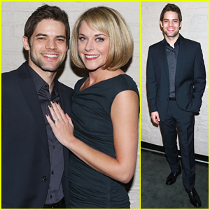 Jeremy Jordan Suits Up for 'Last Five Years' NYC Screening with Wife Ashley Spencer!
