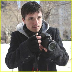 Josh Hutcherson Films Canon's Project Imagination: The Trailer in NYC