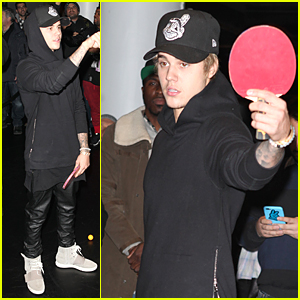 Justin Bieber Makes Ping Pong Look Easy (Video)