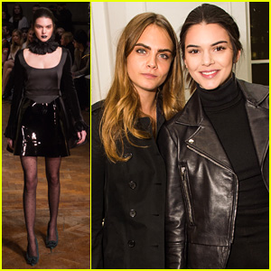 Kendall Jenner Gets Support From Pal Cara Delevinge at London Fashion Week