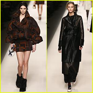 Kendall Jenner & Karlie Kloss Go High Fashion at Fendi Fashion Show