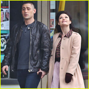 Michael Socha Holds Hands With Emilie de Ravin on 'Once Upon A Time' Set