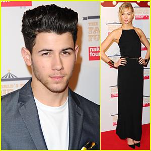Nick Jonas & Karlie Kloss Raise Awareness For Naked Heart Foundation