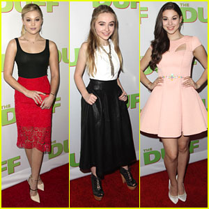 Olivia Holt & Sabrina Carpenter Hit Up 'The DUFF' Premiere