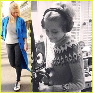 Pixie Lott Teases New Songs In Recording Studio