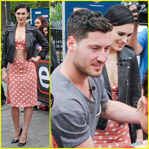 Rumer Willis & Val Chmerkovskiy Stop By 'Extra' Before Hitting the Dance Studio