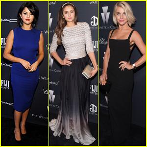 Selena Gomez, Nina Dobrev, & Julianne Hough Make the Perfect Pre-Oscars Party Trio!