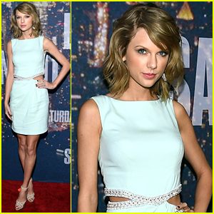 Taylor Swift Gets Ready for the Funnies at 'SNL 40'
